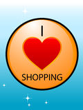 Love shopping symbole. D on gradient background Stock Photos