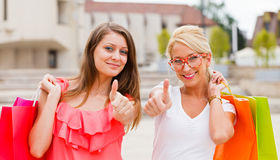 We Love Shopping Together Royalty Free Stock Photos