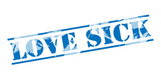 Love sick blue stamp Royalty Free Stock Image