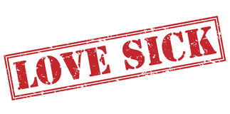 Love sick red stamp Royalty Free Stock Images