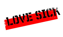 Love Sick rubber stamp Royalty Free Stock Image