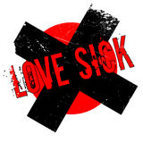 Love Sick rubber stamp Stock Photo