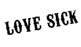 Love Sick rubber stamp Royalty Free Stock Photos