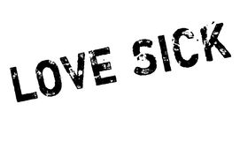 Love Sick rubber stamp Royalty Free Stock Images