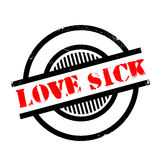 Love Sick rubber stamp Stock Image