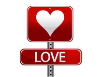 Love sign. Illustration design isolated over white Stock Photo