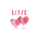 Love sign background. Love Happy Valentines day card. Pencil dra Stock Images