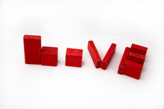 Love sign with blocks beautiful banner wallpaper design. Illustration royalty free stock photo
