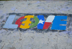 Love Sign. In Galveston, Texas on the beach Stock Photo