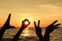 Love  sign language Stock Images