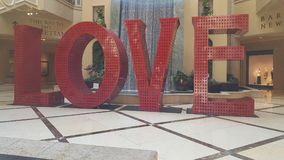 Love sign Las vegas. All you need is love stock image
