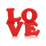 Love sign made out of alphabet with clipping path Stock Photo