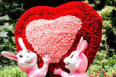 Love. Sign made up of flowers Royalty Free Stock Photos