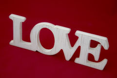 Love sign   on red beautiful banner wallpaper design ill Stock Photo
