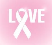 Love sign ribbon illustration design Stock Image