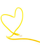 Love sign with Rj45 connector Royalty Free Stock Photography