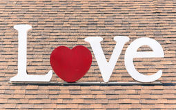 Love sign on roof Royalty Free Stock Images