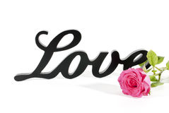 Love Sign and Rose Stock Photo