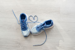 Love sign, Selective focus close up blue sport Royalty Free Stock Image