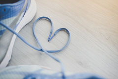 Love sign, Selective focus close up blue sport Stock Photos