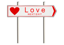 Love sign. Love. Signpost on a white background. Raster Royalty Free Stock Photo