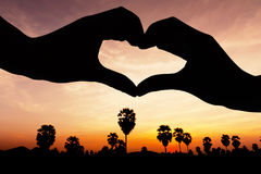 Love sign on twilight time Stock Image