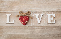 Love sign on vintage board Stock Image