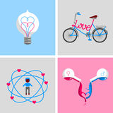 Love signs and symbols. Royalty Free Stock Photography