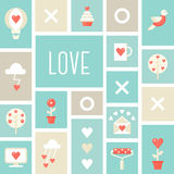Love Signs and Symbols. St. Valentine's Day , Love and Dating Illustration Stock Photo