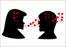Love silhouette Royalty Free Stock Photo