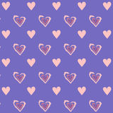 Love. Simple seamless texture with hearts Royalty Free Stock Image