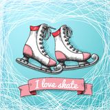 Love skate card theme Stock Image