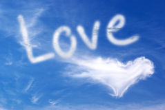 Love in sky Royalty Free Stock Photography