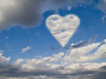 Love in the sky Royalty Free Stock Photo