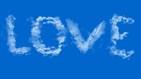 Love in sky. Cloud love in the sky Royalty Free Stock Photo