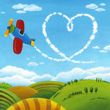 Love Sky Plane Stock Images