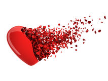Love from small glossy hearts (clipping path) Royalty Free Stock Image