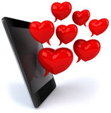 Love and smartphone Royalty Free Stock Image