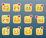 Love smile stickers set Royalty Free Stock Images