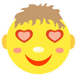 In love smiley boy. Royalty Free Stock Photo