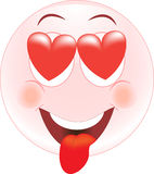 Love smiley, Icon, emotions Stock Images