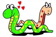 Love snake Stock Photos