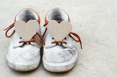 Love from sneaker Stock Images