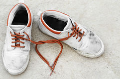 Love from sneaker Royalty Free Stock Photography