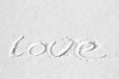 Love snow Royalty Free Stock Photo