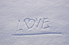 Love snow winter Concept expression feelings Stock Photo