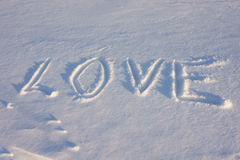 Love  in the snow Royalty Free Stock Photos