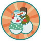 Love snowmen Stock Images