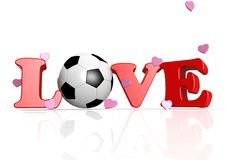 Love Soccer. Rendered artwork with white background stock illustration