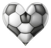 Love soccer heart Stock Photos